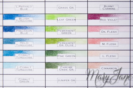 graphic regarding Printable Prismacolor Color Chart referred to as Polychromos colour chart by means of MaryJane High-quality Artwork