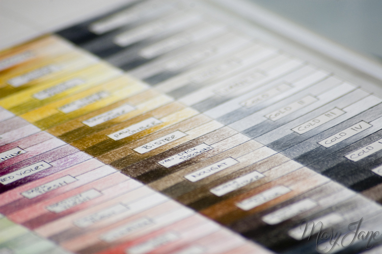 Polychromos Color Chart