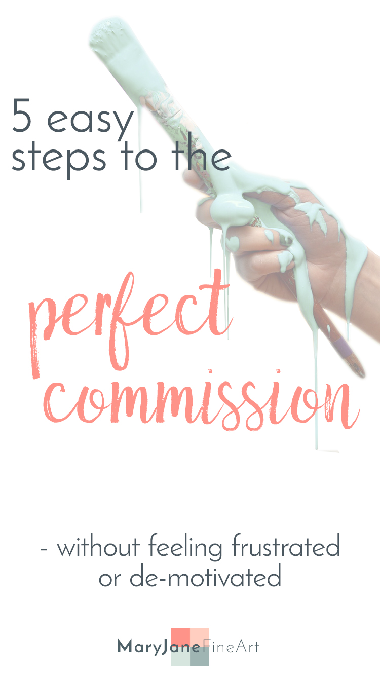 5 easy and simple steps to the perfect commission by maryjane sky of maryjanefineart