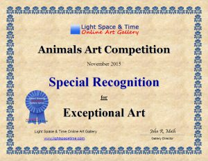 Special Recognition Award for MaryJane Sky Fine Art