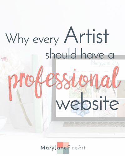 why every artist should have a professional website
