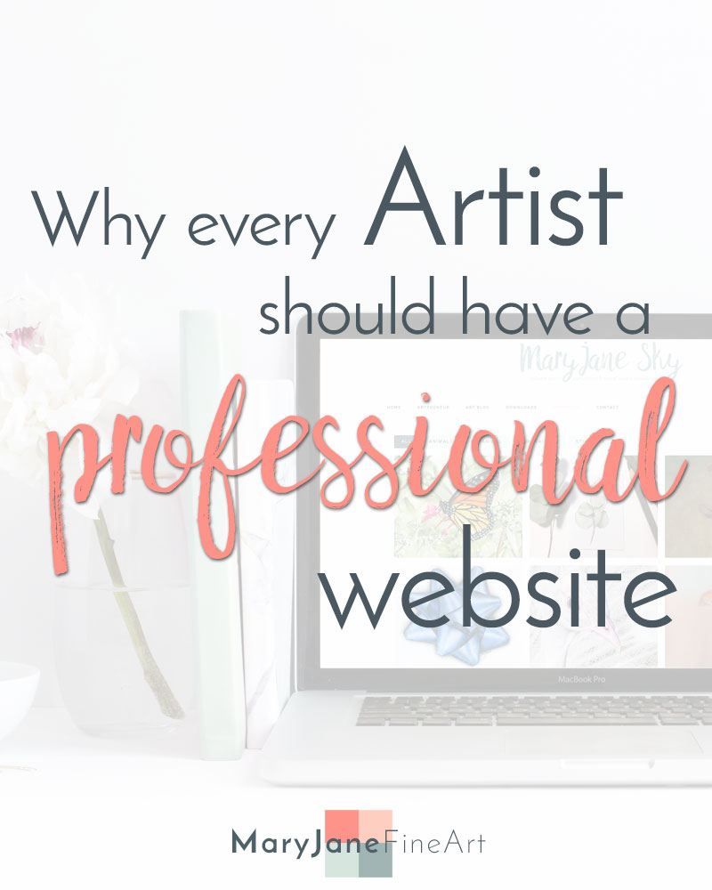 why every artist should have an artist website